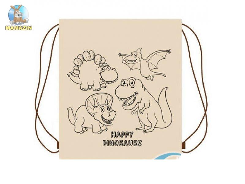 Рюкзак-раскраска для вещей Динозаврики