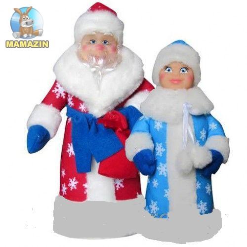 """Мягкая игрушка """"Дед Мороз и Снегурочка"""""""