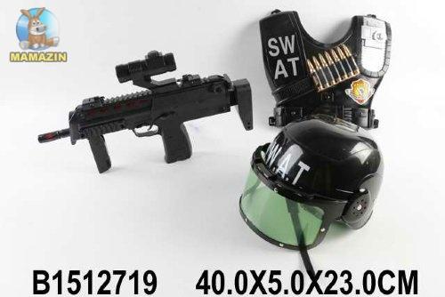 Военный набор каска, бронежилет, автомат
