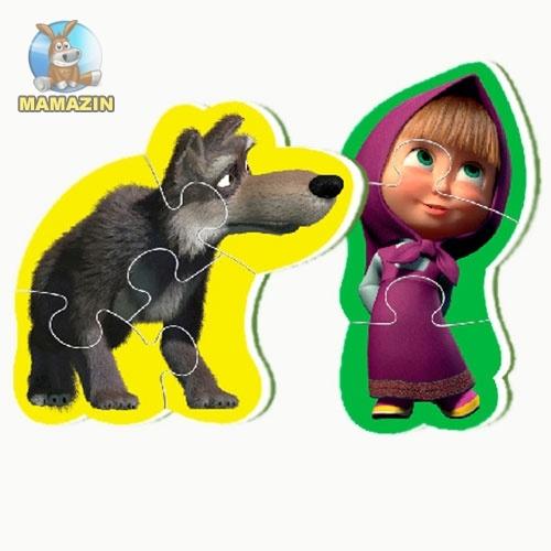 Беби пазлы Мини Маша и медведь