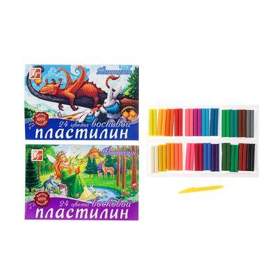 "Пластилин ""Фантазия"" 24 цвета со стеком"