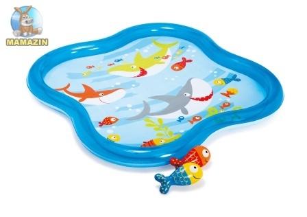 Надувной детский бассейн с фонтанчиком