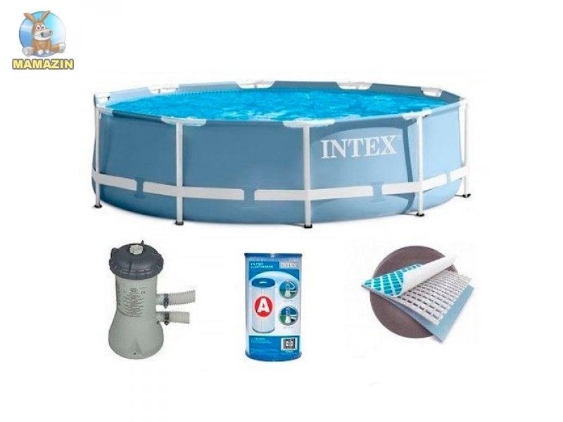 Бассейн каркасный Интекс 366-76см с фильтр-насосом