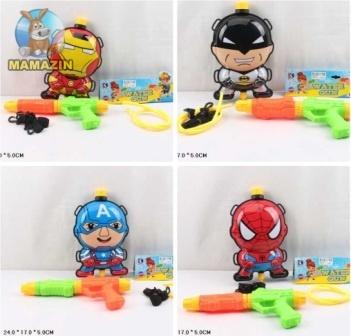 """Водяное оружие игрушечное """"Супергерои"""" с рюкзаком"""