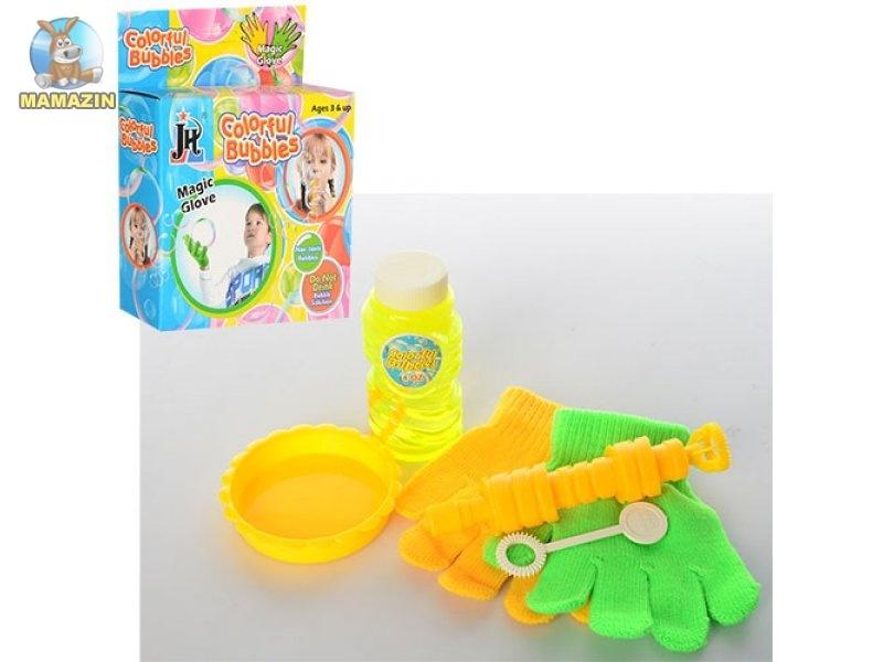 Игровой набор Мыльные пузыри с дудкой и перчатками