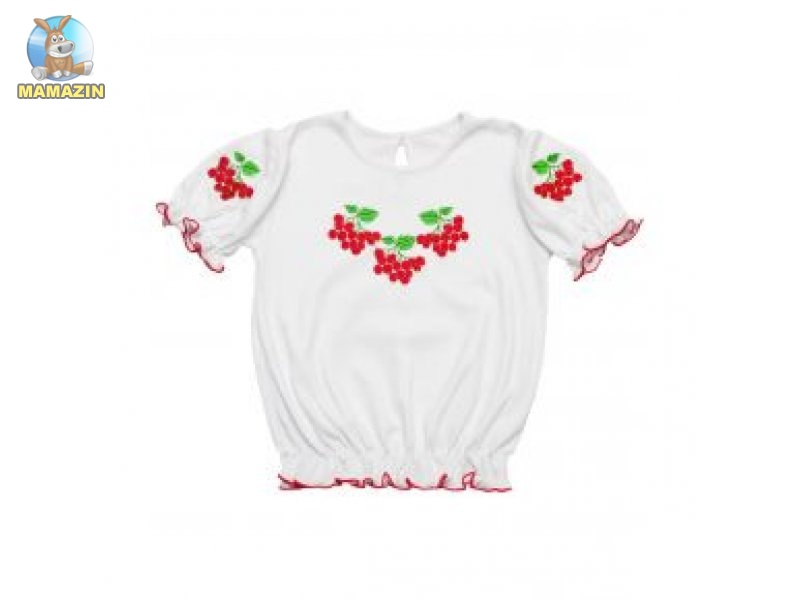 Блузочка-вышиванка для девочки, р. 64