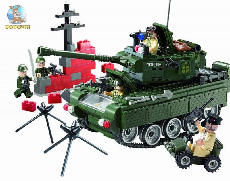 Конструктор Брик Военный танк