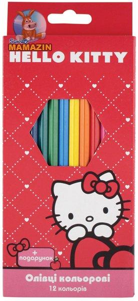 Карандаши цветные 12 цветов Hello Kitty