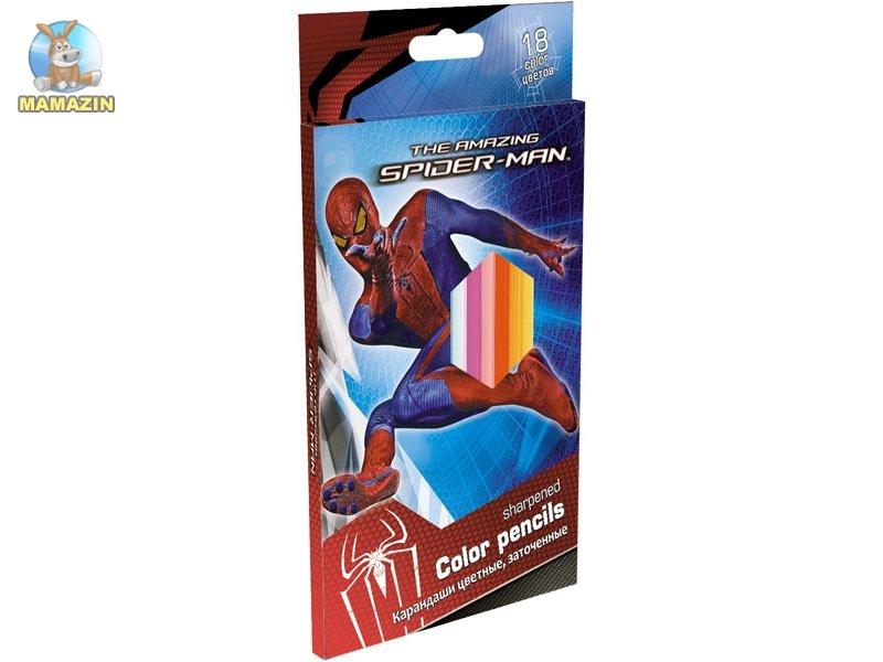 Цветные карандаши SpiderMan 18 цветов