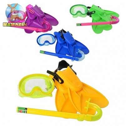 Набор для плавания детский: маска, ласты, трубка
