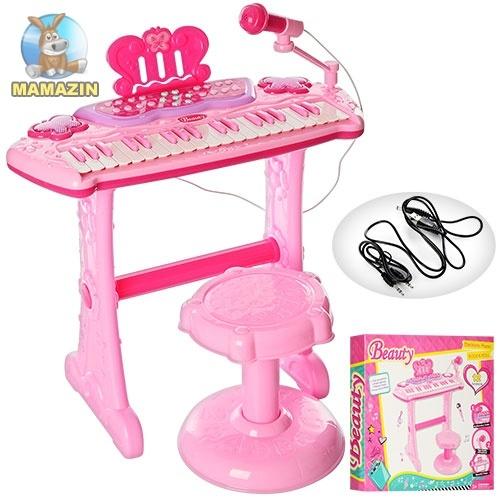 Игрушечный синтезатор со стульчиком