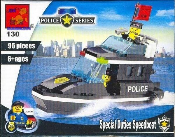 Конструктор Полицейский катер ТМ Brick