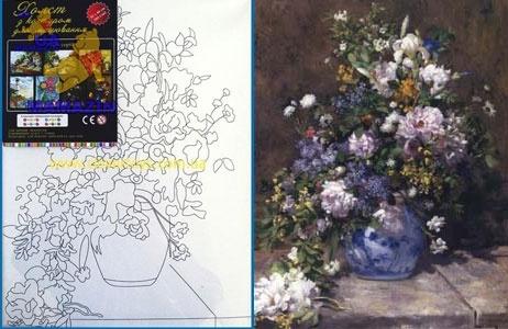 """Холст с контуром """"Полевые цветы"""""""