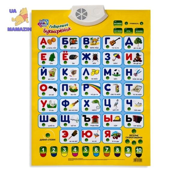 Плакат Азбука  Говорящий Букваренок JoyToy
