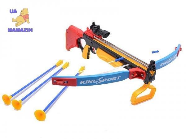 Арбалет с лазерным прицелом и стрелами-присосками