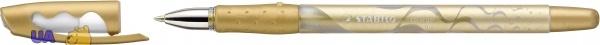 Ручка гелевая металлик STABILO COLOR GEL, чернила золотистые
