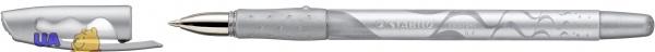 Ручка гелевая металлик STABILO COLOR GEL, чернила серебристые