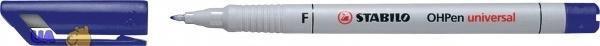 Ручка перманентная маркерная STABILO OHP F, синяя
