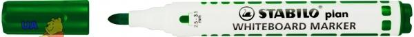 Маркер для доски зеленый STABILO PLAN
