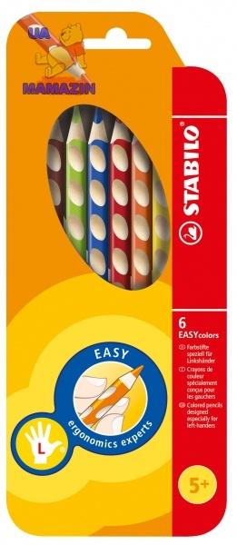 Карандаши 6 цв. для левши STABILO EASYcolors