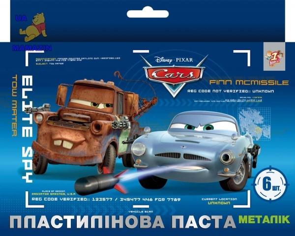 """Пластилиновая паста """"Волшебный бисер """"Тачки"""" металлик"""