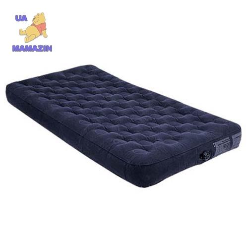Intex: Матрац для отдыха - COMFORT-TOP BED (хаки, надувной, флок. покрытие, 183х203х23)