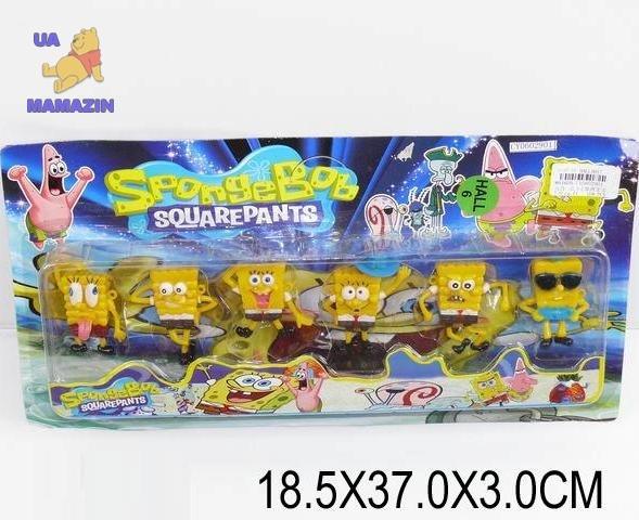 """Герои """"Sponge Bob"""" 6 героев"""