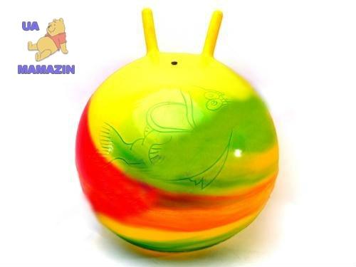 Мяч рожки Радуга 45см
