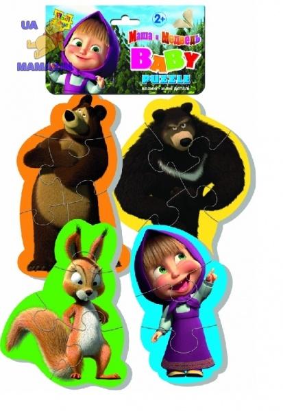 Беби пазлы Маша и медведь (белка) ТМ Vladi Toys