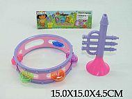 Музыкальные инструменты Дора (труба+бубен)