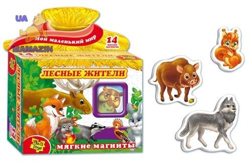 Мягкие магниты Лесные жители ТМ Vladi Toys
