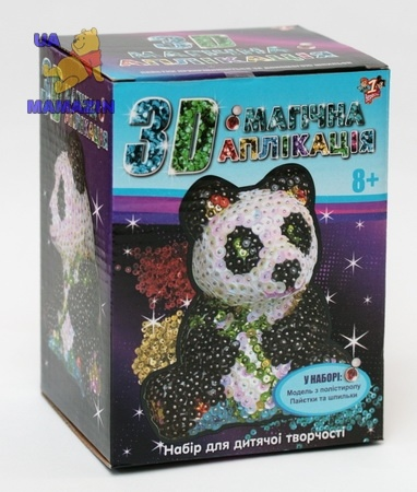 Волшебная 3D аппликация Панда