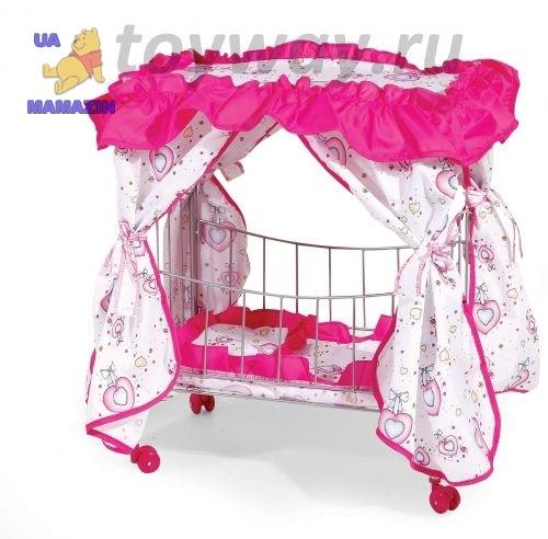Кровать с пологом на колесах 60см
