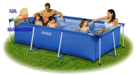 Бассейн каркасный Rectangular Frame Pool Intex