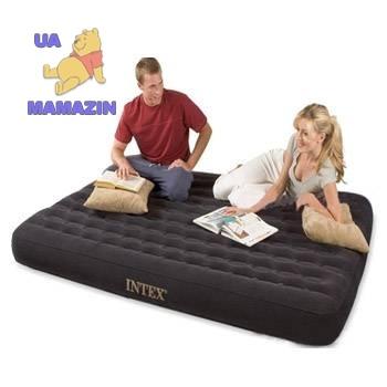 Intex: Низкая двуспальная надувная кровать