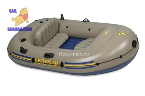 Intex: Надувная 2-х местная лодка Excursion 2 Set