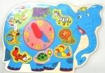 Рамка-вкладыш Часики-Слон