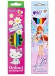 Карандаши цветные 6 цветов (для девочек)