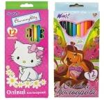 Карандаши цветные 12 цветов (для девочек)