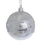 Шар d-8 см, 2шт/уп, серебряный