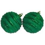 Шар d-8 cм 2шт/уп, зеленый