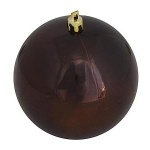 Шар d-10 см шоколадный перламутр