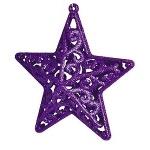 Звезда 10 см, 2шт/уп, фиолетовая