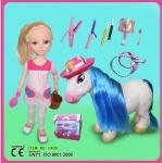 Кукла Nancy с лошадкой для причесок