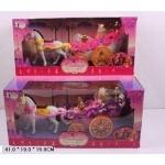 Карета   с лошадью, с куклой Барби