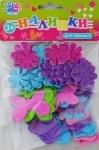 "Наклейки для творчества ""Цветочки и грибочки"" , ЕВА. в уп.78шт."