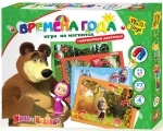 Игра на магнитах Маша и медведь. Времена года Vladi Toys