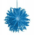 Новогоднее украшение 10 см, голубое