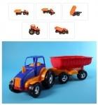 Трактор-каталка с прицепом