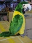 Попугай зеленый 15см